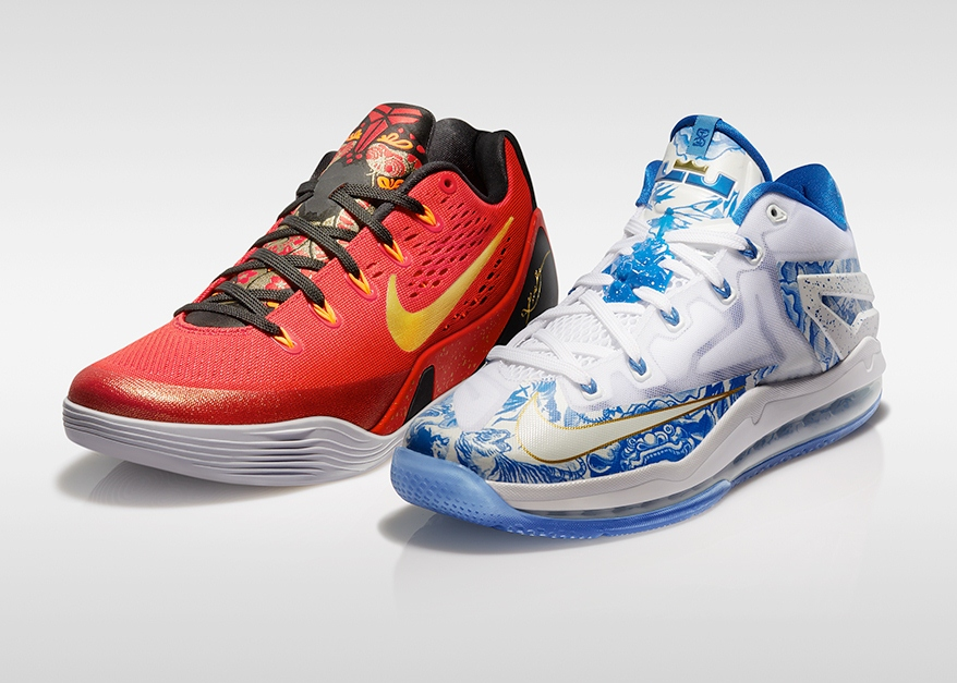 耐克篮球推出中国版Max LeBron XI Low China Pack及Kobe IX China Pack